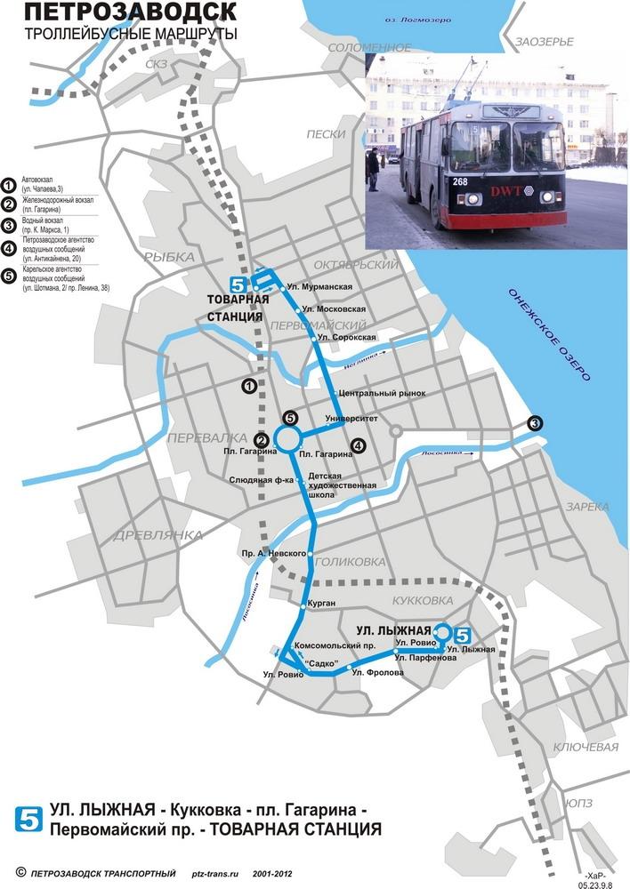 схема движения троллейбуса 17 спб